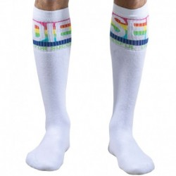 Diesel Chaussettes Rainbow Blanches