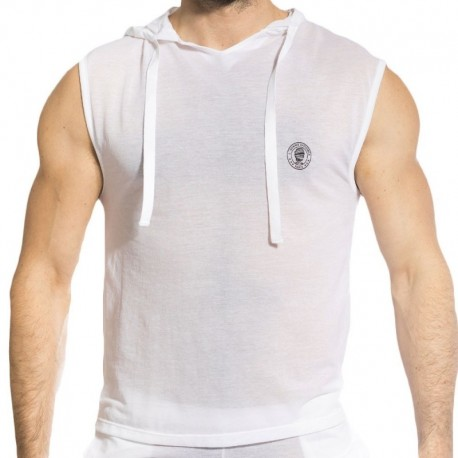 L'Homme invisible Zephyr Hoody Tank - White