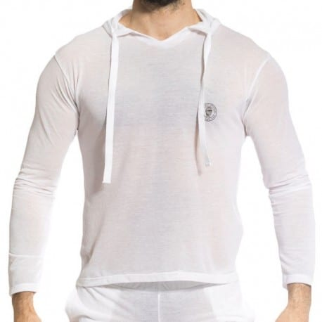 L'Homme invisible Zephyr Hoody T-Shirt - White
