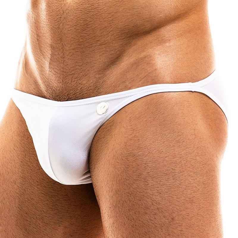 Slip de Bain Low Cut Bodybuilding Blanc