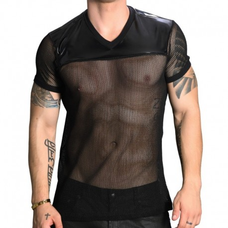Andrew Christian T-Shirt Net Football Noir
