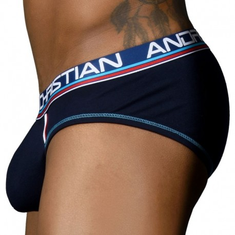 Andrew Christian CoolFlex Modal Active Brief with Show-It - Navy
