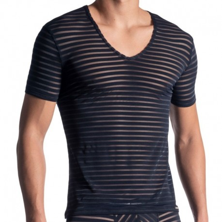 Manstore M864 V-Neck T-Shirt - Night Blue