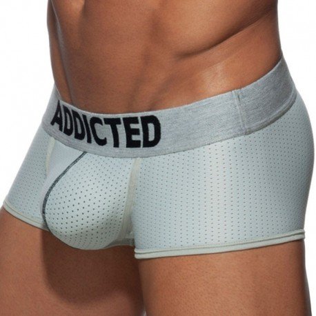 Addicted Push Up Mesh Boxer - Silver