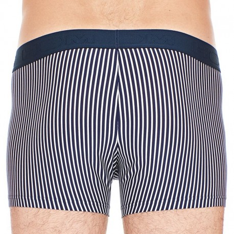 HOM H01 Cruise Boxer - Navy - White