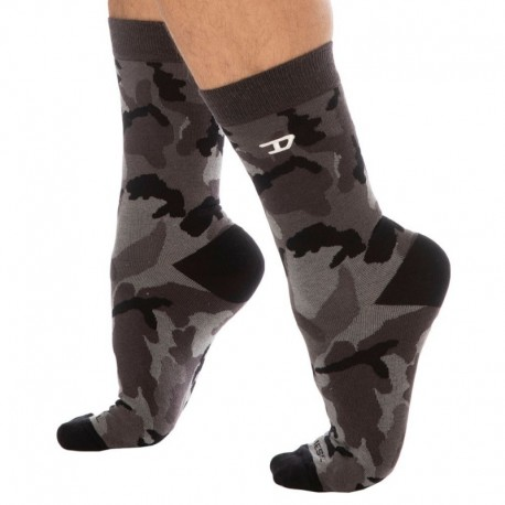 Diesel 3-Pack Camo Socks - Khaki - Grey - Black