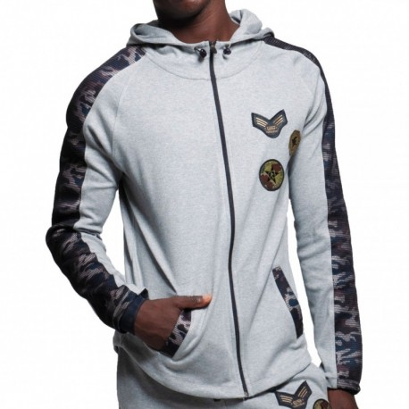 ES Collection Veste Sport Padded Army Grise