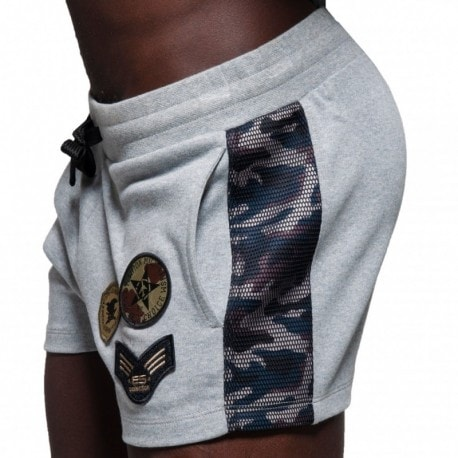 ES Collection Army Padded Sport Short - Grey