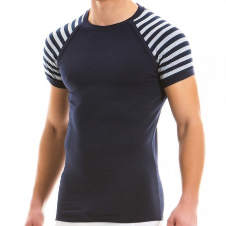 Modus Vivendi Striped T-Shirt - Grey