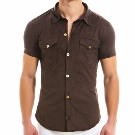 Modus Vivendi Suede Shirt - Brown