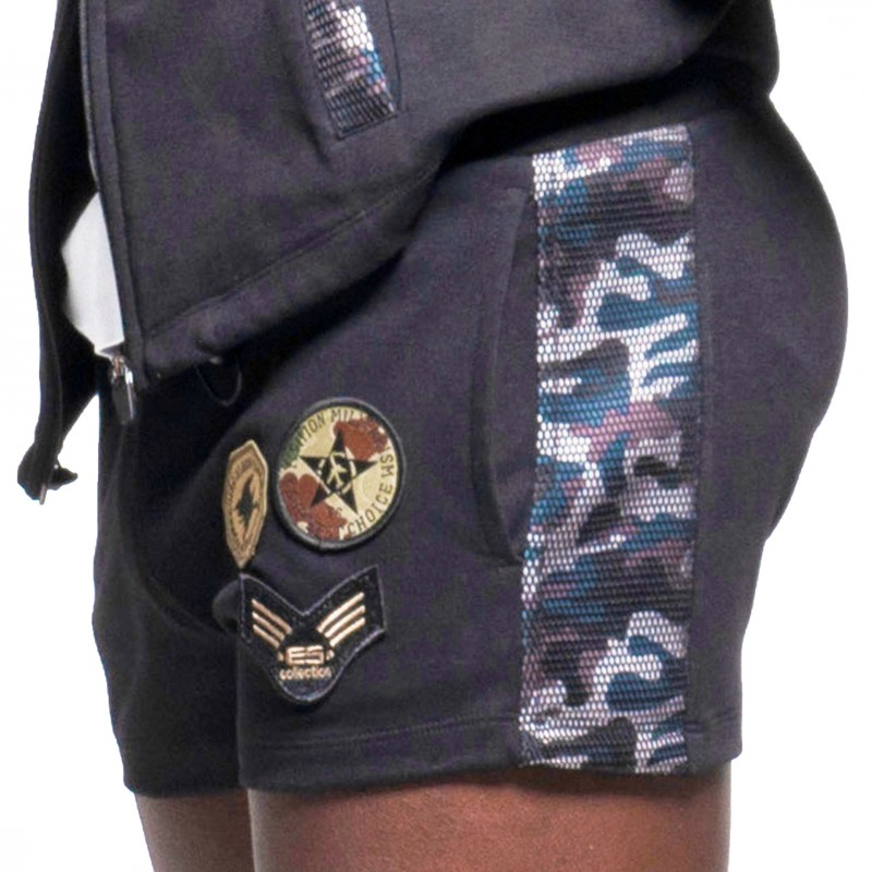 ES Collection Short Sport Padded Army Noir