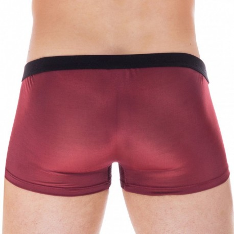 L'Homme invisible Janus Hipster Push Up Boxer - Burgundy