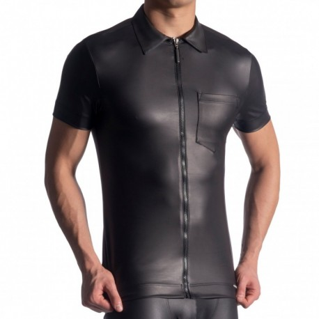 Manstore M510 Zipped Shirt - Black
