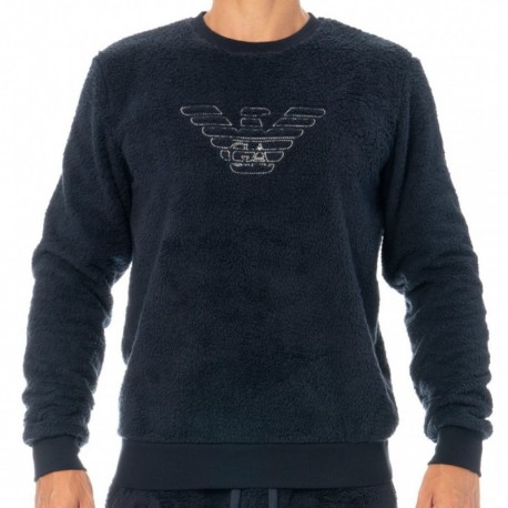 Emporio Armani Sweat-Shirt Fuzzy Fleece Marine