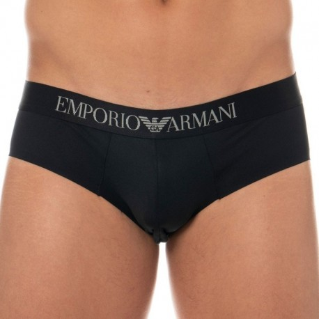 Emporio Armani Bonding Microfiber Brief - Black