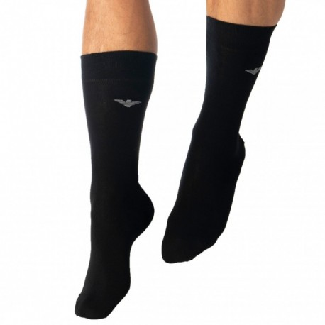 Emporio Armani Plain Socks - Black