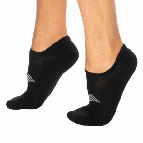 Emporio Armani Plain Invisible Socks - Black