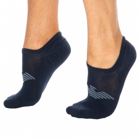 Emporio Armani Plain Invisible Socks - Navy