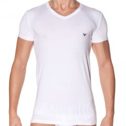 T-Shirt Eagle Stretch Blanc
