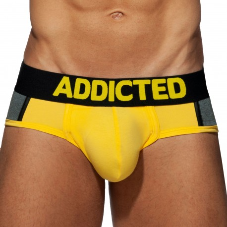 Addicted Spacer Brief - Yellow - Grey