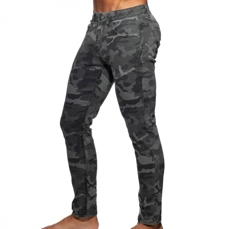 Addicted Jeans Camouflage Gris
