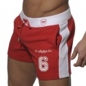 Short Cotton Sports Rouge
