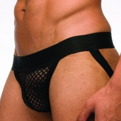 Jock Strap C-Through Noir