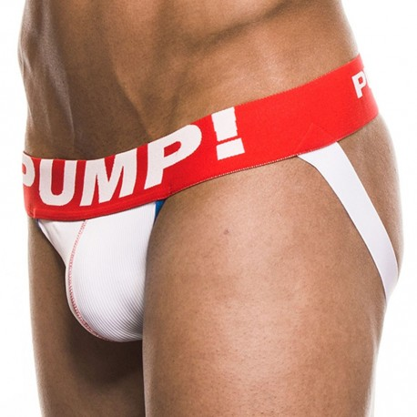 Jock Strap Hockey Blanc - Rouge