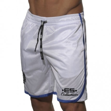 Bermuda Basket Ball Blanc