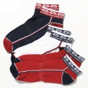 Lot de 3 Paires de Socquettes Sport Marines - Rouges - Blanches