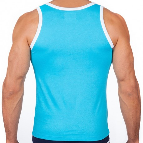Le Tombeur Tank Top - Turquoise