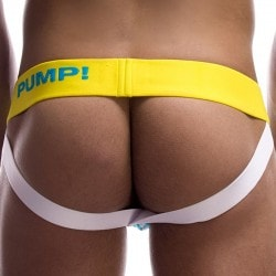 Pump! Jock Strap Spring Break Bleu - Jaune