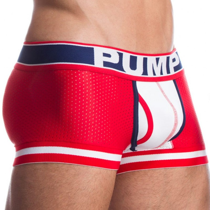Boxer Touchdown Fever Rouge - Blanc