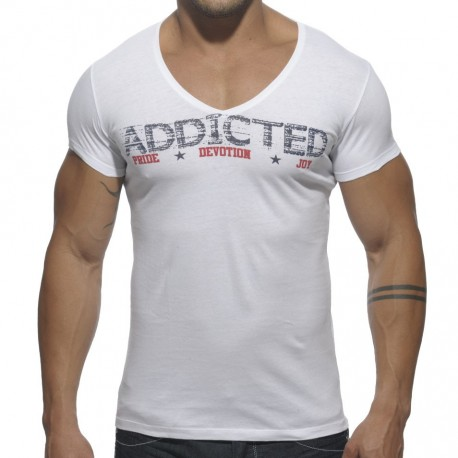 T-Shirt Addicted Blanc