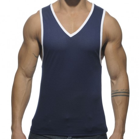 Basic Colors Tank Top - Navy