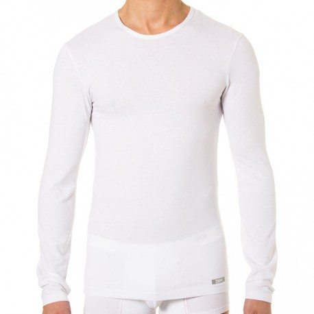 T-Shirt Manches Longues Thermal Effect Blanc
