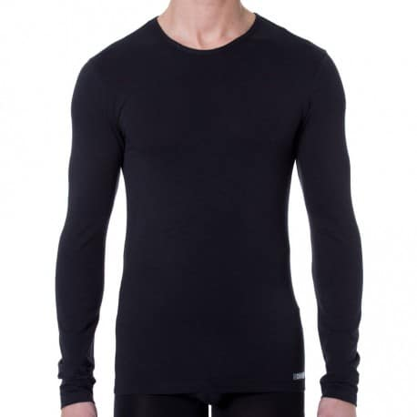 T-Shirt Manches Longues Thermal Effect Noir