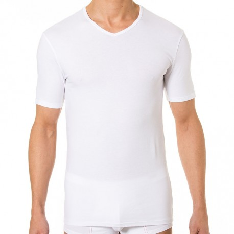 Lot de 2 T-Shirts Col-V Dry & Cool Blanc - Noir