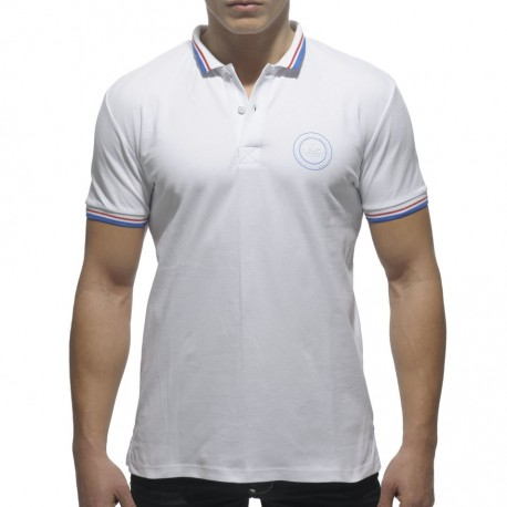 Polo Rounded Shield Blanc