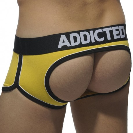 Shorty Bottomless Double Piping Jaune