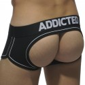Addicted Shorty Bottomless Double Piping Noir