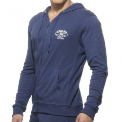 Veste Hoody Detailed Pocket Marine