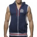 Addicted Veste Zip Cotton Hoody Marine