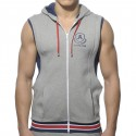 Veste Zip Cotton Hoody Gris