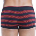 Lot de 2 Boxers Brazilian Striped Coton Stretch Noir - Rouge