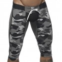 Pantalon Court Empty Bottom Camouflage