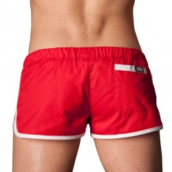 Short Gym Rouge - Blanc