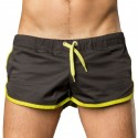 Gym Short - Black - Neon Green