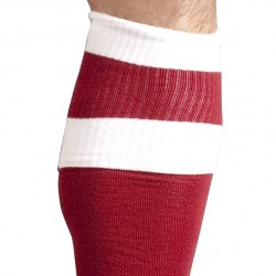 Chaussettes Football Rouges et Blanches