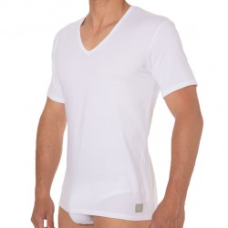 2-Pack CK One Cotton Stretch T-Shirts - White